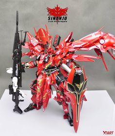 Custom Build: 1/100 MSN-06-2 Sinanju-Licht Nightingale - Gundam Kits Collection News and Reviews