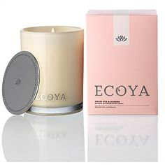 Ecoya Madison Jar Candle Sweet Pea and Jasmine 400g. I also like the vanilla candle and/or diffuser.
