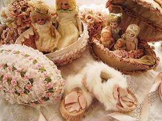Antique Porcelain Doll House Dolls
