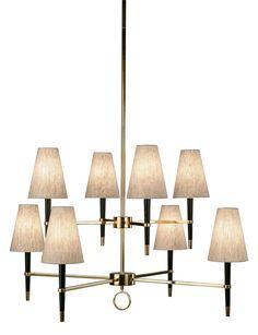 Jonathan Adler Ventana Brass Large Contemporary Chandelier | LampsPlus.com