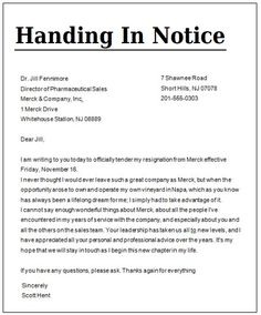 Business organization letter format letter template pinterest a handing in notice template is an official letter that is used to tell your employer that you will be resigning from your job soon altavistaventures Images