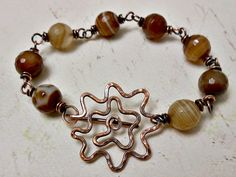 Bracelet with beautiful handmade clasp by Melissa Meman. Jewelry Clasps, Copper Jewelry, Charm Jewelry, Jewelry Findings, Jewelry Art, Beaded Jewelry, Jewelry Bracelets, Jewelry Design, Unique Jewelry