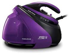 Morphy Richards 332100 Pressurised Steam Generator, Purple and Black - Kitchen Electronics Steam Generator Iron, Clean Technology, Cord Storage, Steam Iron, Inkjet Printer, Car Cleaning, Water Tank, Purple And Black, Pumps