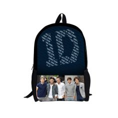 d27980d4ed81 Aliexpress.com   Buy 17 inches one direction school bag kids children s  schoolbag for boys girls fashion printing cartoon book bag backapck from  Reliable ...