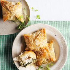 Taste Mag | Sesame fish, feta and spinach pies @ http://taste.co.za/recipes/sesame-fish-feta-and-spinach-pies/