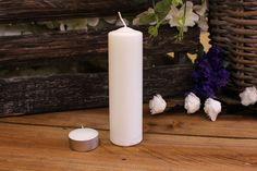 Κεριά Κυλινδρικά Λευκά Φ4x15εκ Pillar Candles, Taper Candles