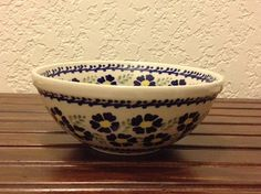 Polish Pottery Bowl by MimisMiniMarketplace on Etsy, $16.00
