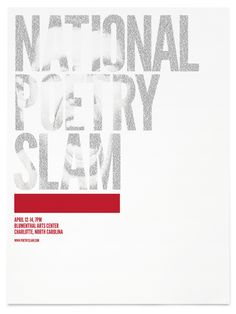 National Poetry Slam Poster - Craig Mangum