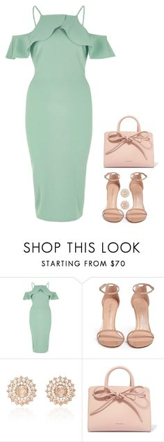 """Summer baby shower"" by charlotteh2001 ❤ liked on Polyvore featuring River Island, Stuart Weitzman, Nam Cho and Mansur Gavriel"