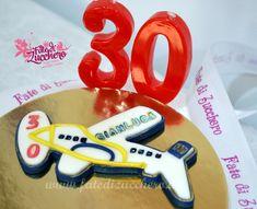 Cake Topper Aereo per 30° Compleanno | | Fate di Zucchero - Cake Designers