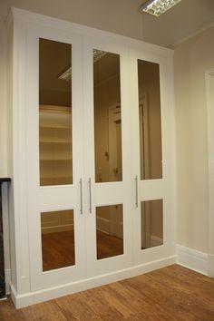 mirrored simple wardrobe doors