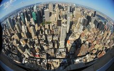 View from the observation deck of the Empire State Building.