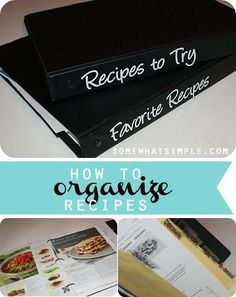 How to organize your recipes