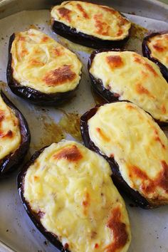 Greek Stuffed Eggplant - Papoutsakia - 30 days of Greek food - Greek Baked Stuffed Eggplant papoutsakia 8 - Vegetable Dishes, Vegetable Recipes, Vegetarian Recipes, Cooking Recipes, Healthy Recipes, Greek Food Recipes, Greek Cooking, Greek Dishes, Mediterranean Diet Recipes