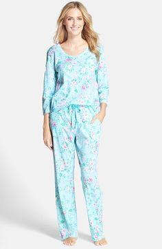 Women's Carole Hochman Designs 'Blooming Roses' Cotton Jersey Pajamas