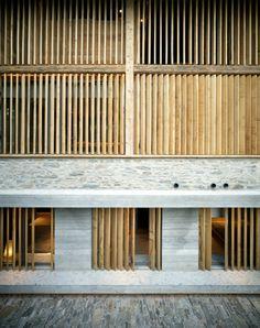 Umnutzung Stall Soglio (2009) Fassadenausschnitt                                                                                                                                                                                 Mehr