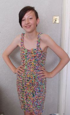 Loom Band Dress by BrilliantBargains on Etsy, £25.00 that is awesome I saw one go for $300,000