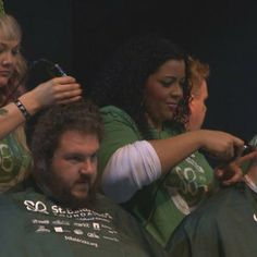Team Breaking Bald, a group of doctors and nurses, shave their heads for cancer #inspiration