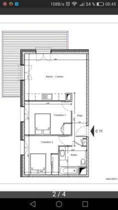 plan appartement 60m2 2 chambres