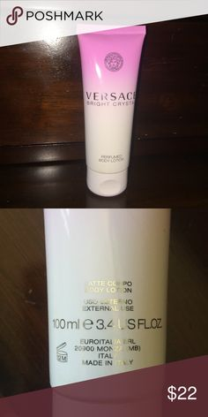 Versace Bright Crystal Body Lotion Full bottle came with gift set. Size is 3.4 oz. Versace Makeup