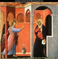 Annunciation by Duccio Di Buoninsegna, 1308.