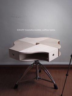 L'idée déco du samedi : Des boîtes ikea qui se transforment en table