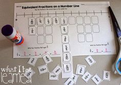 Cut and Paste Third Grade Fractions