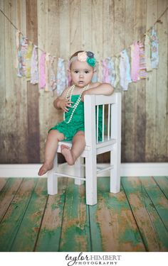 One year old baby girl portraits