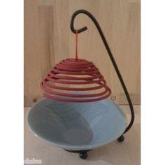 Spiral incense with incense holder