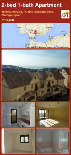 2-bed 1-bath Apartment in Torrequebrada, Pueblo Benalmadena, Malaga, Spain ►€169,000 #PropertyForSaleInSpain