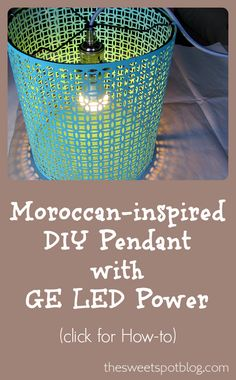 How to make a Moroccan-inspired pendant lamp by The Sweet Spot Blog #LEDSavings #shop #cbias