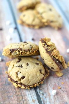 Chocolate Dipped S'mores Cookies