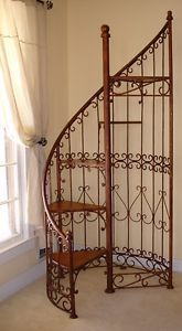 Spiral Staircase Display Stand Iron staircase plant stand Garden Containers Accessories 11