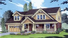 House Plan 50006 | Bungalow   Country    Plan with 1707 Sq. Ft., 4 Bedrooms, 3 Bathrooms, 2 Car Garage