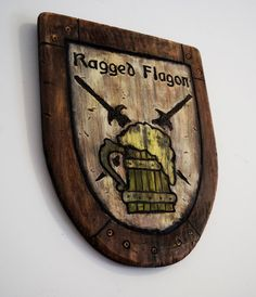 "Skyrim ""Inspired"" Ragged Flagon Pub Sign"