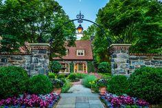 35 Gorgeous Ideas for a Gothic Garden | HGTV Tiered Garden, Wooden Garden, Wooden Fence, Storybook Gardens, Fairy Gardens, Landscape Design, Garden Design, Brick Pathway, Gothic Garden