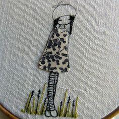 single thread embroidering slowly slowly