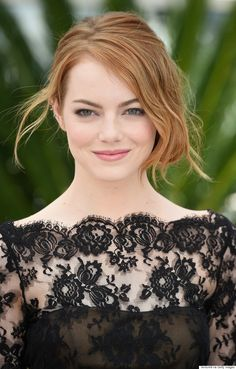 Emma Stone Rocks Black Lace Mini Dress At Cannes 2015 | The Huffington Post Canada Style