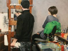 Vincent Giarrano - Casey Baugh in Studio