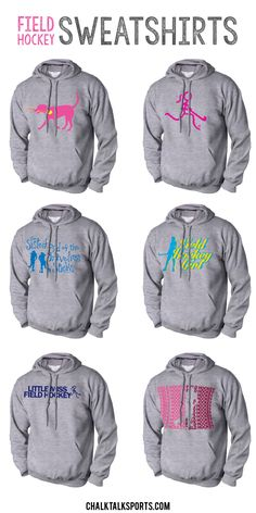 Get ready for cooler weather this Fall with our field hockey hoodies!  These sweatshirts are super comfortable and heavyweight to keep you warm on colder days!  Personalize the back of any of our sweatshirts with player name and number to create a custom field hockey gift that any field hockey player will love to wear!  These even make great gifts for field hockey fans and field hockey parents to show their support for their daughters at their games!  Only from ChalkTalkSPORTS.com!