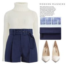 """Modern Manners"" by theapapa ❤ liked on Polyvore featuring Cameo, Sea, New York, Sophia Webster, John Lewis, Polaroid and modern"