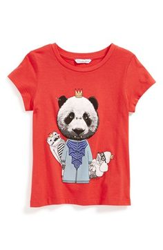 LITTLE MARC JACOBS 'Panda' Cotton & Modal Tee (Little Girls & Big Girls) | Nordstrom