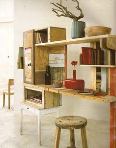 ufficio-scrivania-cassette-e-tavole-di-legno.gif (472×603)