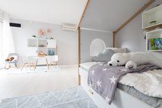Kinderzimmer, dass zum Spielen einlädt im Musterhaus Trend 146 W in der Blauen Lagune Trends, Toddler Bed, Furniture, Home Decor, Blue Lagoon, Playing Games, Child Bed, Interior Design, Home Interior Design