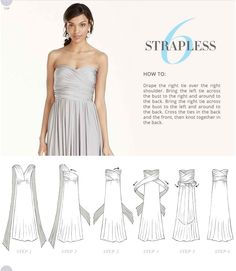 Versa Convertible Infinity Bridesmaid Dress In Lustrous Jersey Tutorial