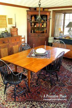 Primitive dining room. Love it!