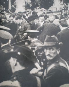 Padraig Pearse giving the funeral oration for the Fenian chief Jeremiah O'Donovan Rossa in 1915.
