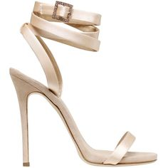 Giuseppe For Jennifer Lopez Women 120mm Satin Wrap Around Sandals (€600) ❤ liked on Polyvore featuring shoes, sandals, heels, giuseppe zanotti, nude, nude heel shoes, nude shoes, platform heel sandals, platform sandals and wrap around sandals