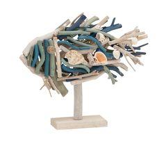 Artistically Designed Driftwood Fish