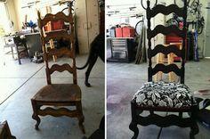 diy refurbish old used chairs